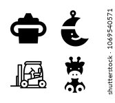 icons baby with toy  worker ... | Shutterstock .eps vector #1069540571