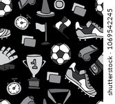 seamless vector pattern with... | Shutterstock .eps vector #1069542245