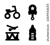 icons baby with noise  tricycle ... | Shutterstock .eps vector #1069543655