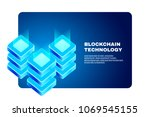cryptocurrency and blockchain... | Shutterstock .eps vector #1069545155