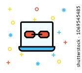 link url web page  | Shutterstock .eps vector #1069545485