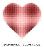 valentine heart halftone vector ...   Shutterstock .eps vector #1069546721