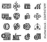 bitcoin symbol in flat design.... | Shutterstock .eps vector #1069547699
