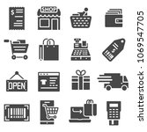 shopping malls  retail   web... | Shutterstock .eps vector #1069547705