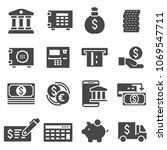 vector gray bank icons set on... | Shutterstock .eps vector #1069547711