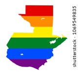 lgbt flag map of guatemala.... | Shutterstock .eps vector #1069549835