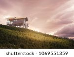 an image of an old shed which... | Shutterstock . vector #1069551359