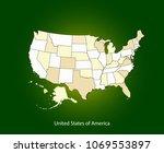 usa map vector outline... | Shutterstock .eps vector #1069553897