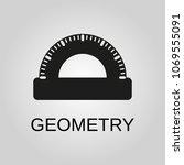 geometry icon. geometry symbol. ... | Shutterstock .eps vector #1069555091