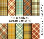 set of seamless tartan patterns   Shutterstock .eps vector #1069556171