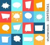 speech bubble set with shadows  ... | Shutterstock .eps vector #1069556561