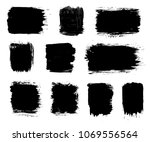 vector black paint brush stroke ... | Shutterstock .eps vector #1069556564