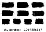 vector black paint  ink brush... | Shutterstock .eps vector #1069556567