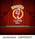 Comedy Show Theater Scene With...