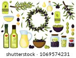 olive oil vector products and... | Shutterstock .eps vector #1069574231