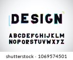 modern abstract color font and... | Shutterstock .eps vector #1069574501