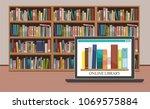 Bookshelve With Books On...