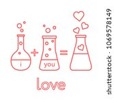 you and me and our chemistry of ...   Shutterstock .eps vector #1069578149