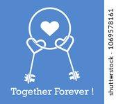 keys in heart shape and the...   Shutterstock .eps vector #1069578161