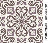 vector seamless texture.... | Shutterstock .eps vector #1069581785