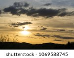 cloudy colorful sunrise and...   Shutterstock . vector #1069588745