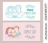 happy family. international... | Shutterstock .eps vector #1069589297