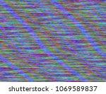 modern static glitch background.... | Shutterstock .eps vector #1069589837
