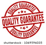 quality guarantee round red... | Shutterstock .eps vector #1069596035