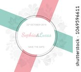 beautiful greeting card with... | Shutterstock .eps vector #1069596611