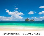 vacation wallpaper heavenly... | Shutterstock . vector #1069597151