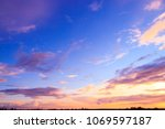 burning skies evening scene  | Shutterstock . vector #1069597187