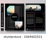 black portfolio design vector.... | Shutterstock .eps vector #1069602521