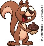 cute cartoon squirrel. vector... | Shutterstock .eps vector #106960367