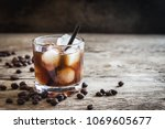 black russian cocktail with... | Shutterstock . vector #1069605677