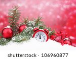 green christmas tree with toy... | Shutterstock . vector #106960877