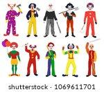 clown vector clownish character ... | Shutterstock .eps vector #1069611701