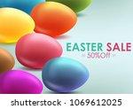 easter sale banner background... | Shutterstock .eps vector #1069612025