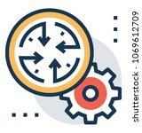 business scope management... | Shutterstock .eps vector #1069612709