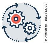 project processing flow vector ... | Shutterstock .eps vector #1069612739