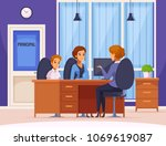 children parents parenthood... | Shutterstock .eps vector #1069619087