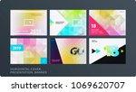 presentation. abstract vector... | Shutterstock .eps vector #1069620707