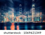 concept design of the hong kong ... | Shutterstock . vector #1069621349