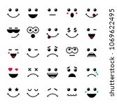 set of emoticons or emoji... | Shutterstock .eps vector #1069622495