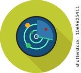 radar  screen  tracker | Shutterstock .eps vector #1069625411