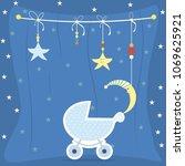 baby shower greeting card....   Shutterstock .eps vector #1069625921