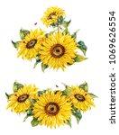 botanical sunflowers.... | Shutterstock . vector #1069626554