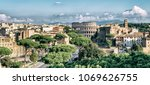 rome  italy city skyline with... | Shutterstock . vector #1069626755