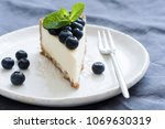slice of cheesecake with fresh... | Shutterstock . vector #1069630319