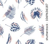 tropical seamless pattern with... | Shutterstock .eps vector #1069636187