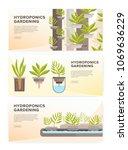 set of horizontal web banners... | Shutterstock .eps vector #1069636229